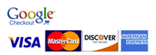 We accept PayPal, Google Wallet, VISA, MasterCard, Discover and Amex payments