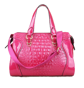 Croco Shoulder Bag